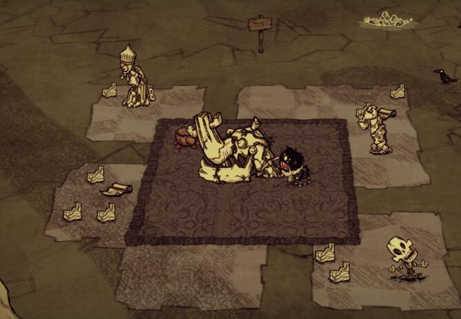 饥荒大理石雕像图纸
