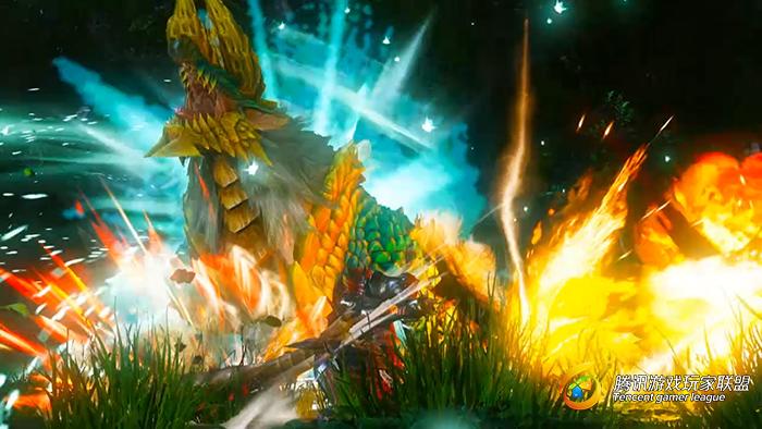 怪物猎人OL火焰打击特效