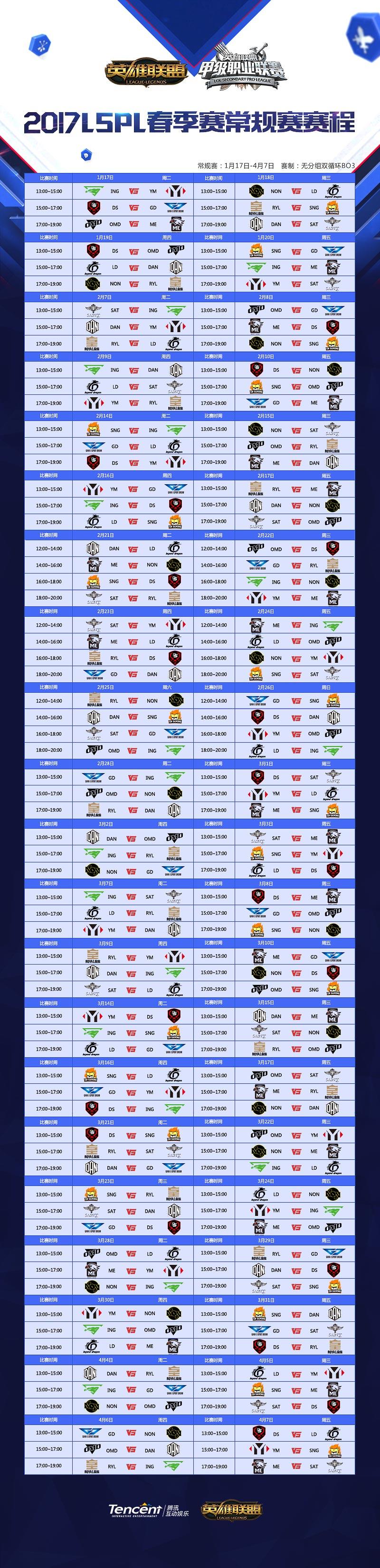 2017LSPL春季赛首日开赛