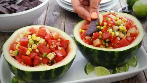 西瓜玉米沙拉