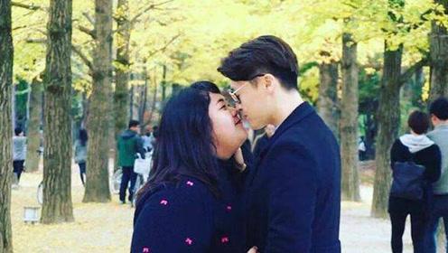 胖女孩苦练韩语 嫁给韩国俊俏帅哥
