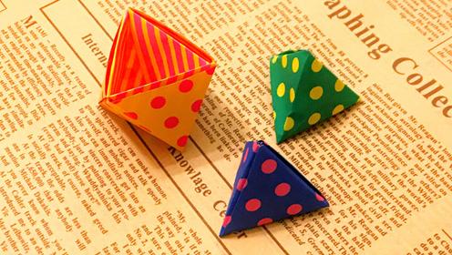 超级萌的一只立体猫头鹰折纸 很可爱哦!