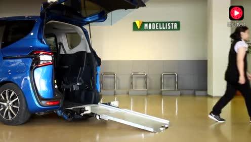 丰田专为残疾人设计的面包车,小细节设计的很周到图片