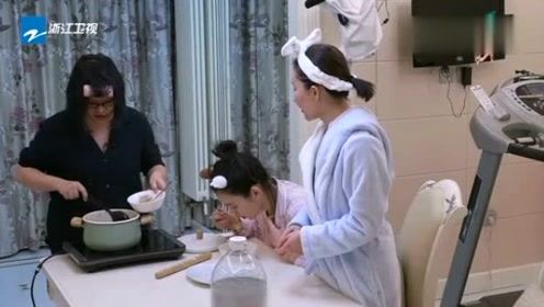 谢依霖用剩下的饺子馅做了肉丸汤 被奚梦瑶和舒畅吃光了 谢依霖