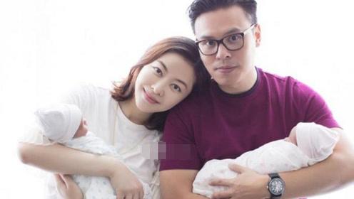 熊黛林诞下双胞胎女儿  一家四口合影曝光