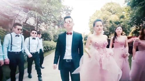 全网最酷炫的新娘拍灰舞,隔着屏幕都觉得喜庆!