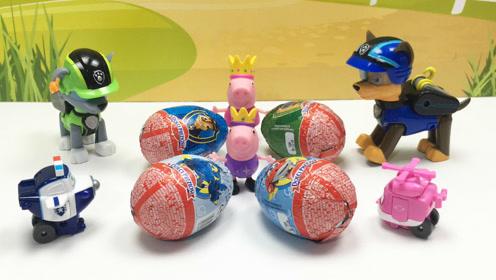 超级飞侠奇趣蛋和汪汪队立大功巧克力玩具蛋