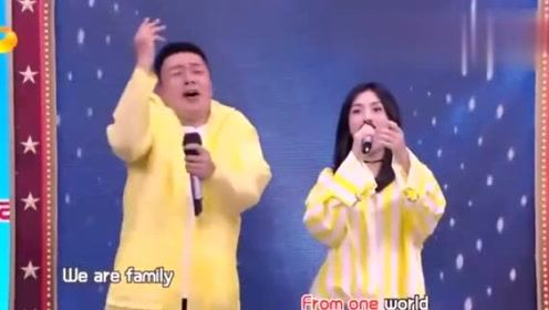 谢娜海涛模仿演唱我和你,何炅笑的一直打旁边的韩东君哈哈哈!
