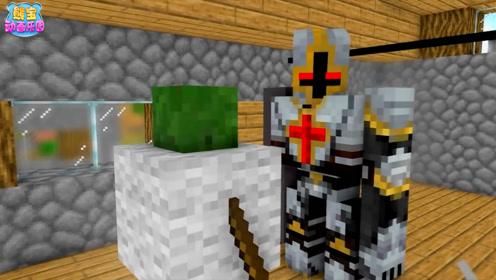 我的世界动画 村民们训练铁傀儡如何对抗怪物