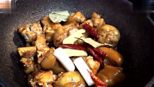 大厨教你一个猪蹄新做法,香而不腻又健康,美味霸道的做法简单