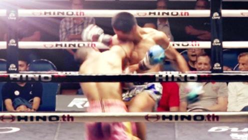 不忍直视的一击肘法KO,回看慢镜头太凶狠!