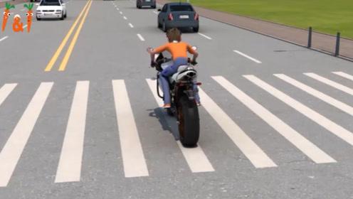 三维动画模拟摩托车上路后的挂档技巧,三大误区要明了!