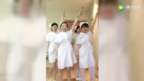 护士小姐姐集体跳《C哩C哩》舞,有颜值又有才华的白衣天使!