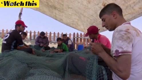 加沙渔民出海距离被以色列限制在3海里 生活极端艰难