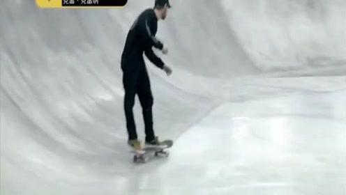 国际滑板公开赛:美国选手发挥行云流水,络腮胡还很帅
