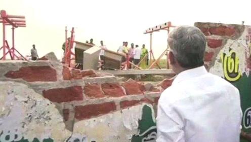 起飞撞机场围墙受损 印度客机飞4小时才降落
