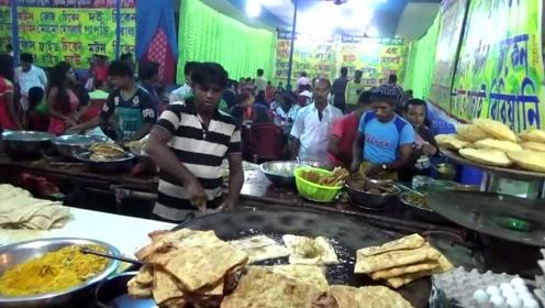 印度的美食街,简直不要太热闹,有没有你喜欢的食物