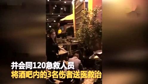 男子醉驾保时捷冲入酒吧 致3名顾客受伤