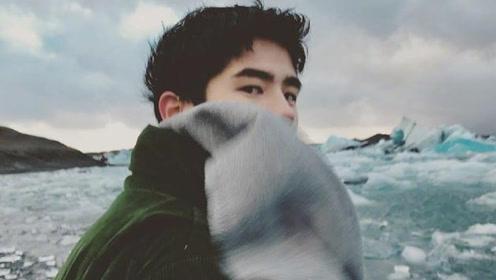 刘昊然游冰岛晒与美景合照 意境深远文艺气息十足