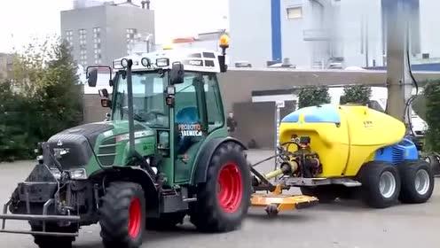 芬兰的农业技术这么先进了实拍喷雾拖拉机作业,这效率杠杠的!
