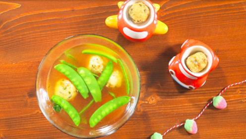 挑食宝宝必备,三文鱼丸子汤汤