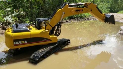 挖土机简单手工制作