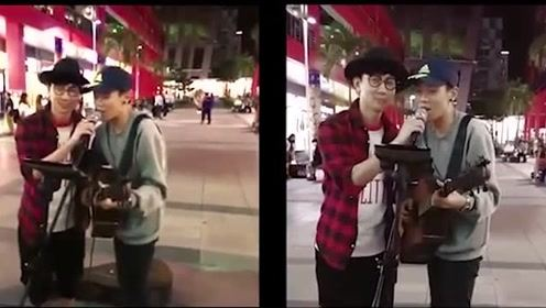 街头艺人在路边唱《江南》真的把林俊杰给唱来了!