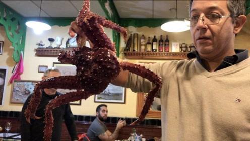 5斤一只的帝王蟹,在乌斯怀亚只卖700块,比国内便宜一半
