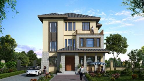 农村11米面宽自建别墅,新中式带堂屋现代风情谁不爱