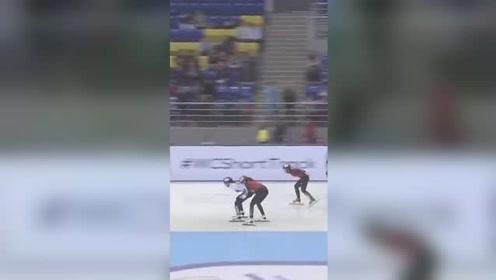 短道速滑韩国再下黑手:把中国选手推出赛道