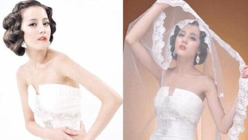 迪丽热巴早期的婚纱照曝光,妆容土气却被网友称:颜值接地气