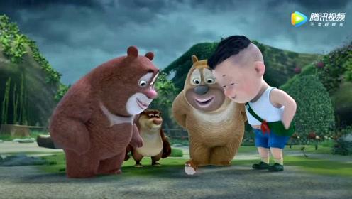 《熊出没》小鸟想跟熊大熊二光头强一起玩!