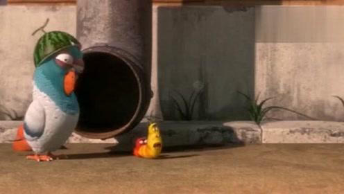 爆笑虫子:小黄和小红被老鼠吓得不行,太好玩了