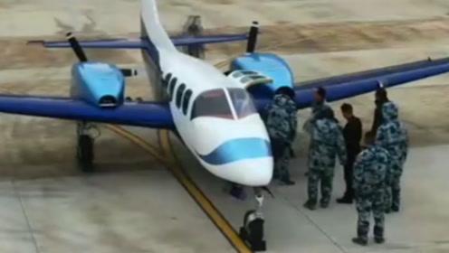"""国产首架""""荆门造""""晨龙飞机 成功完成低速滑行试验"""