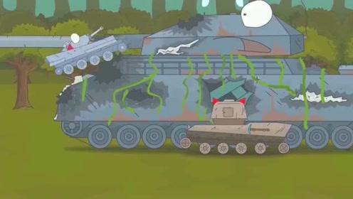 坦克世界搞笑动画:维修好的巨鼠这么厉害,比普通巨鼠强百倍