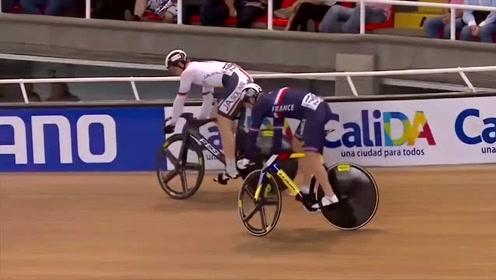 自行车慢骑比赛,不料到后面就是爆发的冲刺