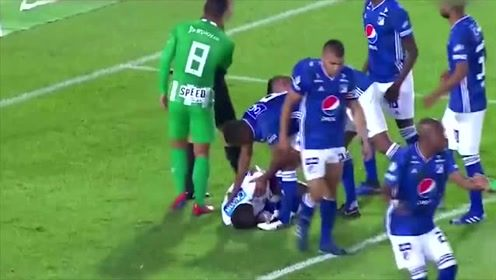 现实版少林足球,哥伦比亚联赛门将开挂3连扑