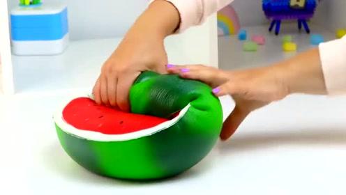 像水果模样的压力发泄球,用力捏下去,那手感太棒了!