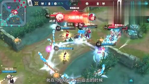 王者荣耀KPL最强操作:XQ诺诺姜子牙逆天回转大招1换3击溃敌军