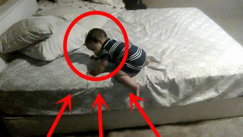 实拍高智商宝宝,与众不同的下床表现,网友:智商绝对150以上