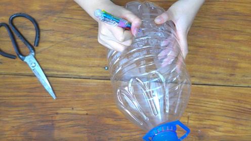 废旧塑料桶改造,花盆和自制饮水机轻松得来,生活就是这么有乐趣