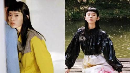 奚梦瑶穿着清新拍摄森系时尚大片 与男模合作默契十足