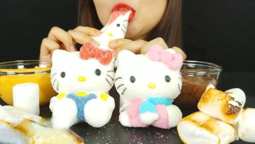 hello kitty棉花糖蘸上辣椒酱,吃起来是怎样的体验?