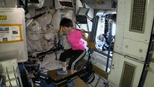 宇航员在太空怎样对抗失重?小姐姐这健身机器估计够买几套房了!