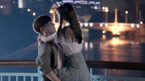 杨颖新剧遭甜蜜表白,当场上演双腿缠腰抱