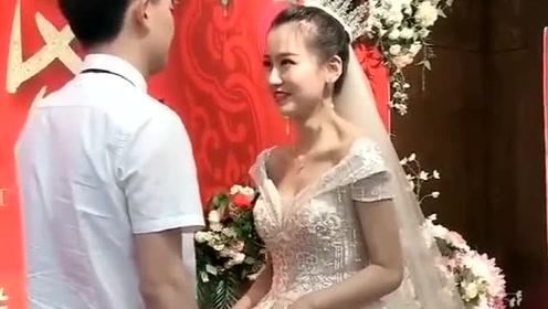 兄弟,你这是积了多少福德啊,娶了这么漂亮的媳妇!