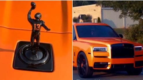 把劳斯莱斯车标换成自己雕像?国外这位足球运动员是真会玩!