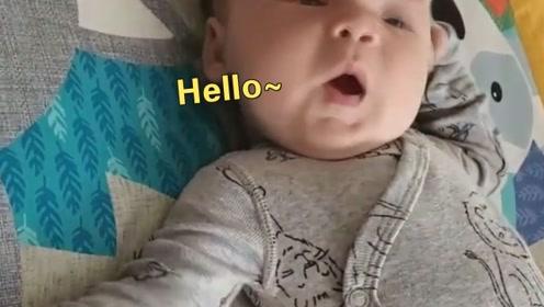 8周大的小萌娃竟开口说你好,妈妈欣喜若狂