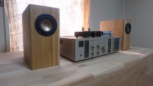 纯手工自制木音箱,原来音箱里面是这样构造的