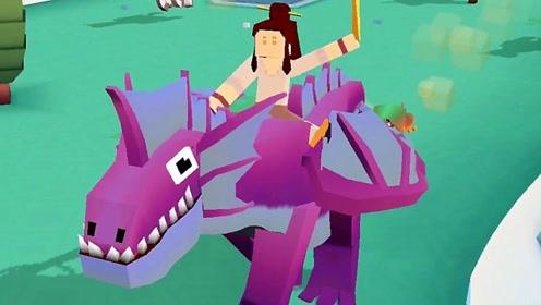 """疯狂动物园:我骑着长城的""""龙蜻蜓""""来到奥林匹斯山,捉到一条龙"""